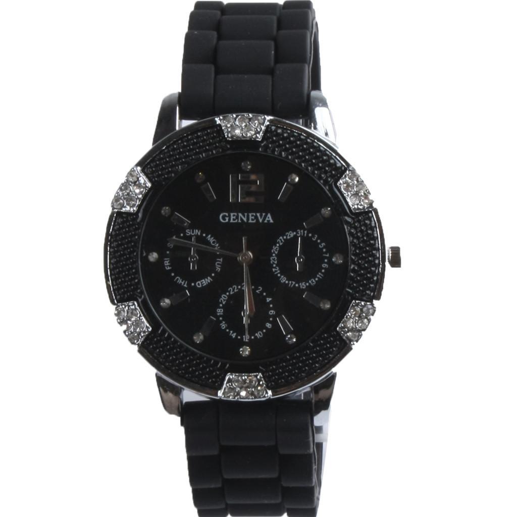 d188a51d7 Dámske hodinky | Dámske hodinky GENEVA BLING BLACK | jeej.sk