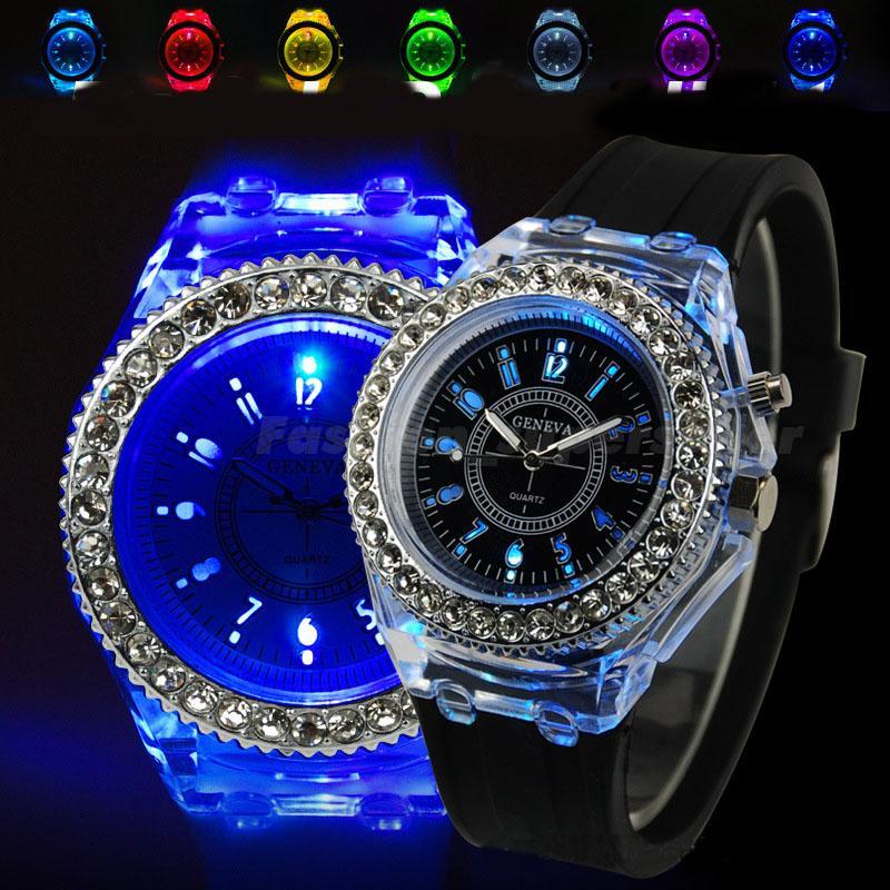 8779fbf18 Dámske hodinky GENEVA LED BLACK | jeej.sk