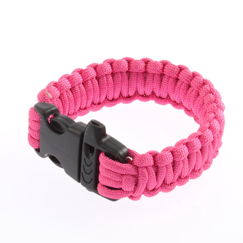 PARACORD náramok ROSE RED